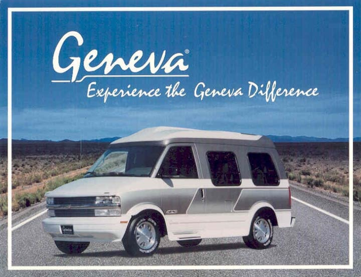 Experience The Geneva Difference Conversion Van Truck Sales Brochure