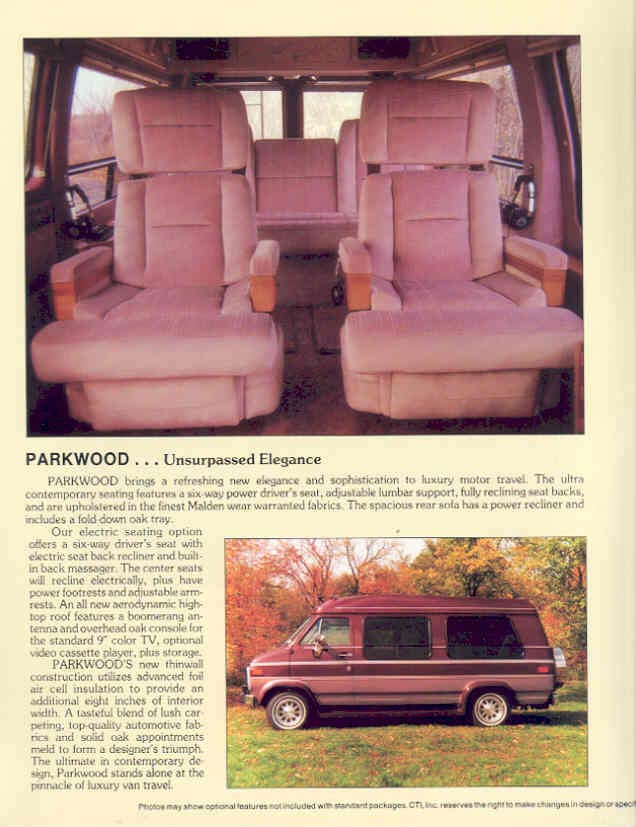 1989 Geneva Luxury Motor Vans Lakewood Espre Conversion Van Brochure
