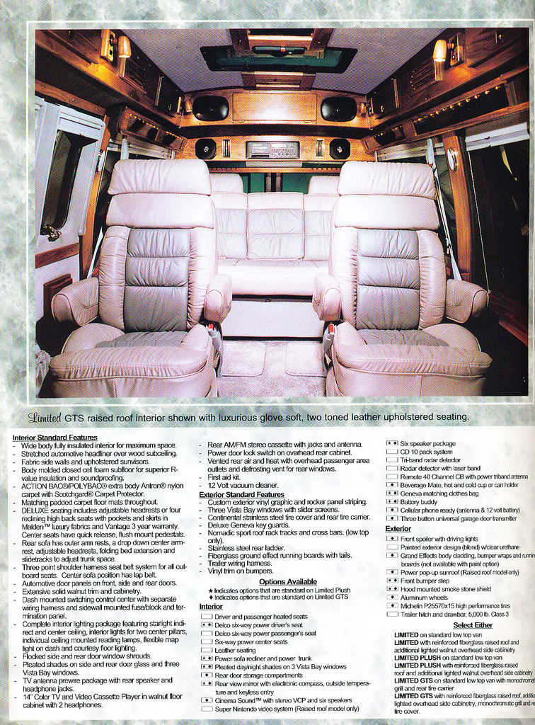 1993 1994 Chevrolet GMC Geneva Conversion Van Truck Sales Brochure