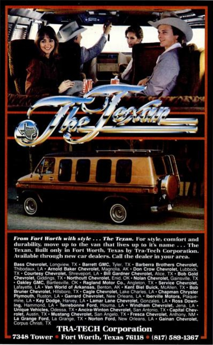 Chevy Suburban Tra Tech Conversion Packages 1980 Ford Van Found In The Texas Monthly Magazine Sep From Fort Worth With Style Texan For Comfort And Durability Move Up To That Lives