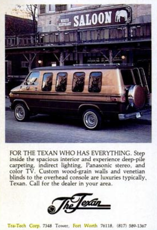 Found In The Texas Monthly Magazine Nov 1980 FOR THE TEXAN WHO HAS EVERYTHING Step Inside Spacious Interior And Experience Deep Pile Carpeting