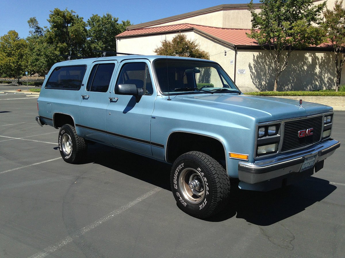 1990 Chevy And Gmc Suburbans Smoke Blue Metallic Paint Color
