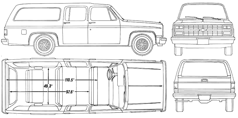 1990 suburban facts on chevy van coloring pages