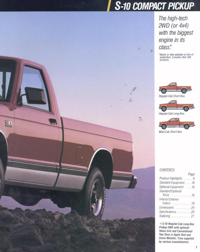 1990 Chevy and GMC Literature and Sales Brochures