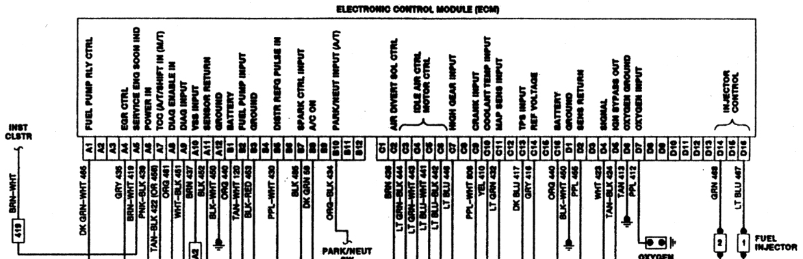 1990 chevy suburban speedometer troubleshooting 65 mustang 5 gauge cluster wiring diagram chevy instrument cluster wiring diagram #33